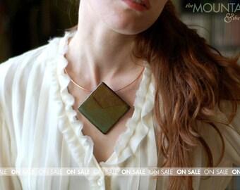 ON SALE // The Grand Diamond - Ceramic Slide Necklace