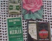 Vintage Sewing Needle Packages Altered Art Steampunk Supplies