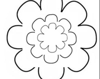 Flower Pattern Template 17 Sizes 8 Pedal Flower Instant Download