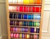 "HANDMADE 48"" Wooden Ribbon Storage Rack/Shelf/Organizer/Dispenser"