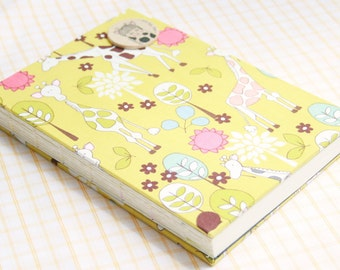 Sketch Book - Coptic Stitched - Fabric - A5 size - Mr. Giraffe