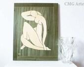 Wood Inlay Art Work  - Woman  - Marquetry - Art Design - Handmade Woodwork - Home Decor