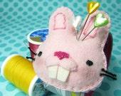 Bucktooth Bunny Pincushion Wristlet
