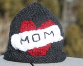 Mom (or Dad) Tattoo Style Baby Hat ~ READY TO SHIP