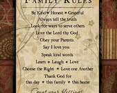 Count your Blessing Family Rules 8x10 Print