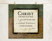 CLEARANCE - Christ is the center of our home 12x12 Art Print