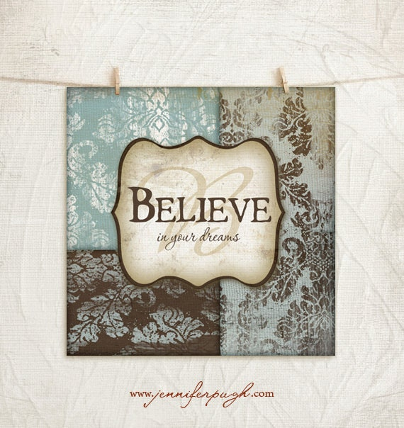 CLEARANCE - Believe 12x12 Art Print
