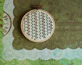 READY TO SHIP - Hand Beaded Stitch Art on 3-inch Embroidery Hoop