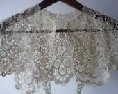 19th century French Hand Embroidered Collar, Exquisite Detail