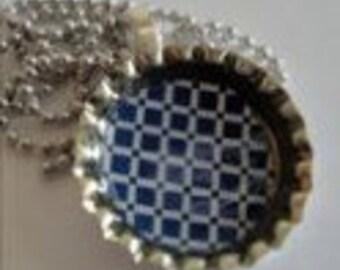 Bottle Cap Pendant Necklace (204)
