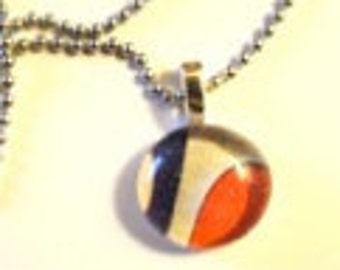 Glass Drop Pendant Necklace (265)