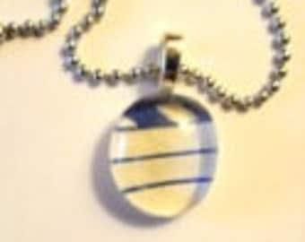 Glass Drop Pendant Necklace (266)