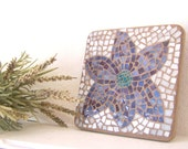 Reserved for Gail -  Flower Wall Art Stained Glass Mosaic Wall Hanging Home Decor