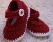 Red Christmas Mary Janes