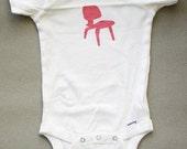 Eames chair print onesie- Short sleeve 3-9 months
