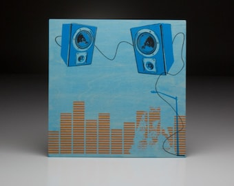 Screen printed music art- Ingram Hill