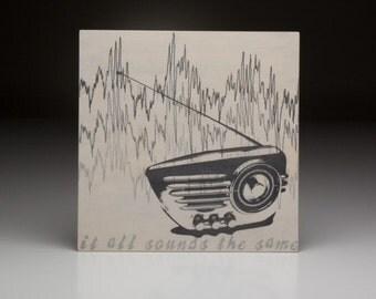 Screen printed music art- Gabriel Reed