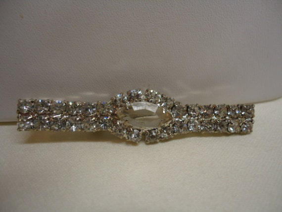 Vintage Brooch Clear Rhinestone Brooch Wedding Supplies Jewelry