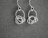 Petite Twist Sterling Silver Earrings