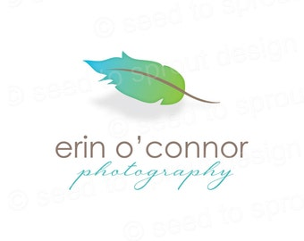 Logo Design Pre-made Feather  SOLD ONLY ONCE