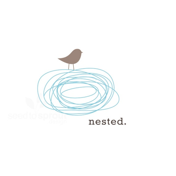 Reserved Logo Design Pre-made Bird Nest  SOLD ONLY ONCE