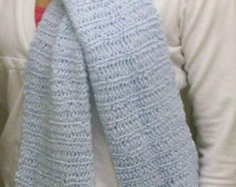 Soft baby blue scarf