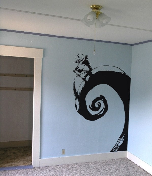 jack skellington nightmare before christmas giant wall decal. Black Bedroom Furniture Sets. Home Design Ideas
