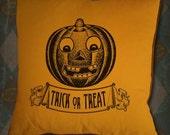 Jack O Lantern Pumpkin Trick Or Treat Vintage Artwork Digital Image Transfer Download jpeg or png 300 dpi for Pillows Totes Bags Towels