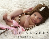 Football Earflap Crochet Hat Pattern -- Sizes from Newborn to 8 years (452)