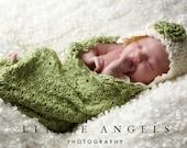 Daisies Newborn Cocoon Crochet Pattern Photography Prop (521)
