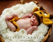 Giant Giraffe Beanie Hat and Diaper Cover Crochet Pattern -- Photography Prop (552)
