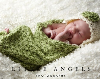 Daisies Newborn Cocoon Crochet Pattern Photography Prop (521)