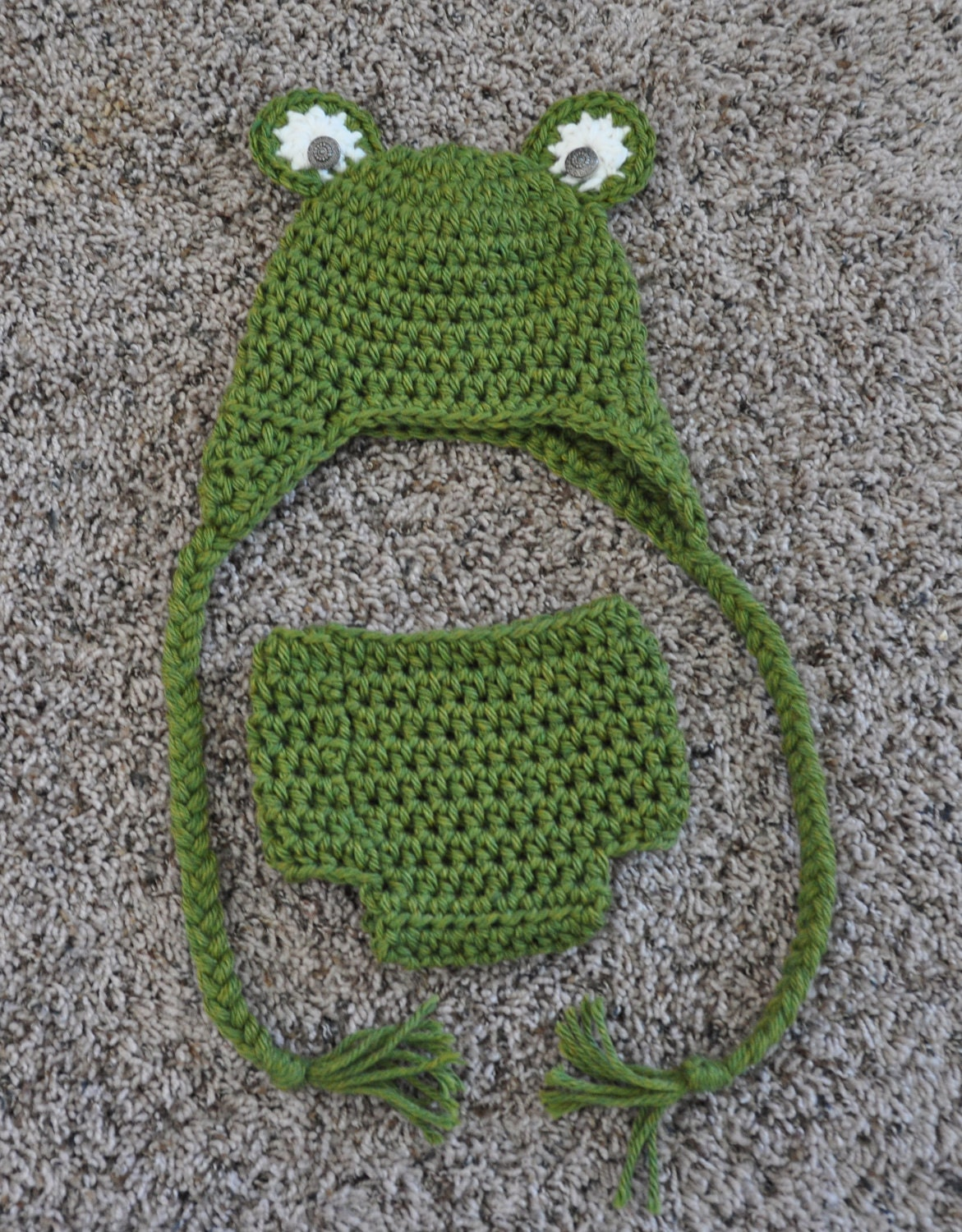 Knitting Pattern For Frog Hat : Crochet Toad Lly Cute Frog Earflap Hat LONG HAIRSTYLES