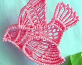 Pink Bird Sugar Ornament for Weddings ~ Baby Showers ~ Cake Decorations & Toppers ~ Home Decor