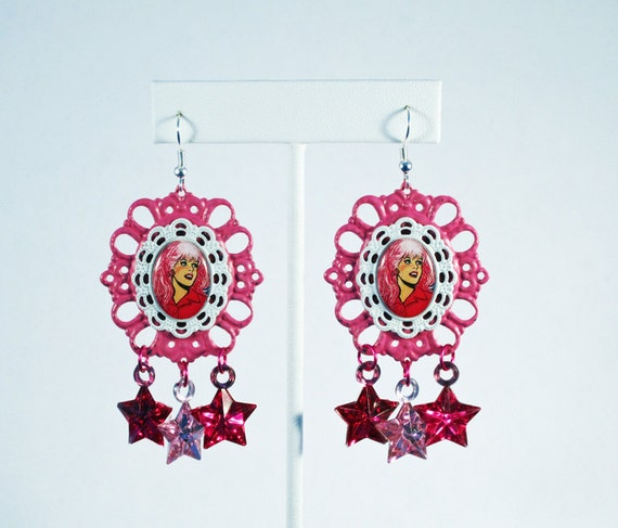 Jem and the Holograms Showtime Synergy Cameo Earrings