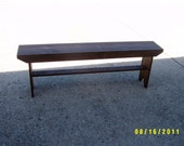 "wooden bench narrow recycled hallway  mudroom bench tv stand end of the bed bench 60"" salvaged reclaimed"