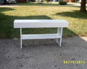 wooden bench farmhouse style 3' recycled material