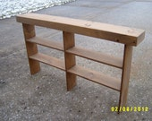 console table sofa table entryway table narrow recycled material custom made farmhouse style
