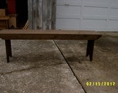 5' clear span recycled  wood bench no shelf boot bench