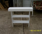console sofa table wooden bench tall bench console  narrow entryway table recycled material custom made farmhouse style
