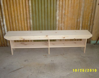 6' wooden bench