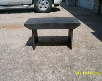 wooden bench 3' clear span
