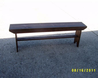 "wooden bench narrow recycled hallway  mudroom bench tv stand end of the bed bench 48"" salvaged reclaimed"