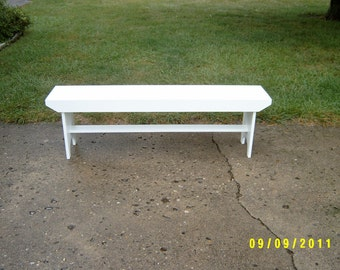wooden bench 5' country
