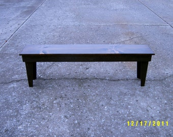 "bench wooden furniture 60"" custom made"