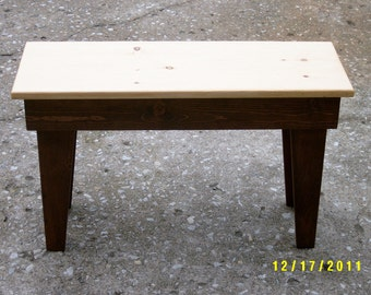 "wooden bench,30"" recycled matrial, space underneath for boots and shoes, custom made"