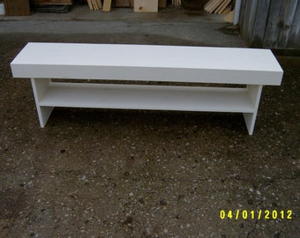 wooden bench farmhouse style 5'  recycled material