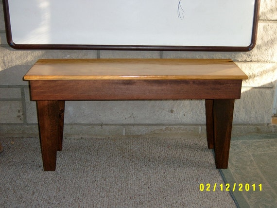 """wooden bench,36"""" recycled matrial, space underneath for boots and shoes, custom made"""