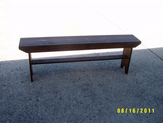wooden bench recycled hallway  mudroom bench tv stand end of the bed bench made and ready to ship