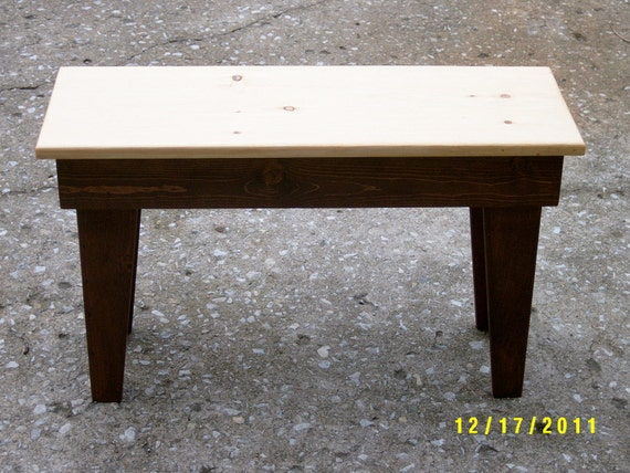 """wooden bench,30"""" recycled matrial, space underneath for boots and shoes, custom made"""